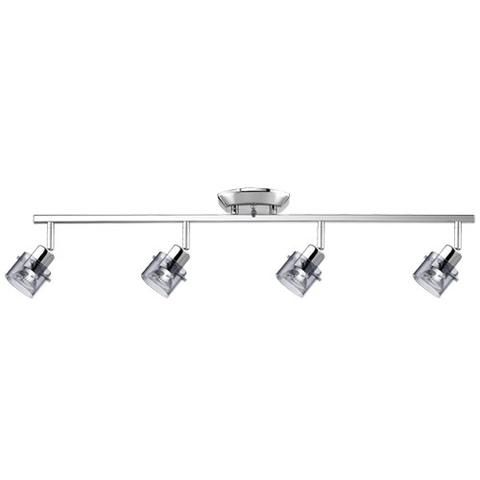 tk316-4-cm 4-light ceiling track fixture with smoked glass shades