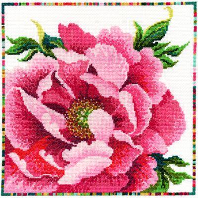 Garden Flowers - Peony Cross Stitch Kit by Bothy Threads