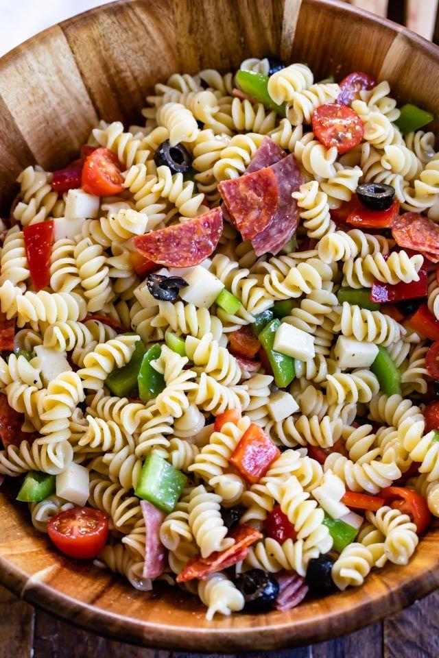 Easy Italian Pasta Salad Recipe Crazy For Crust Recipe Easy Pasta Salad Recipe Pasta Salad Italian Pasta Salad Recipes