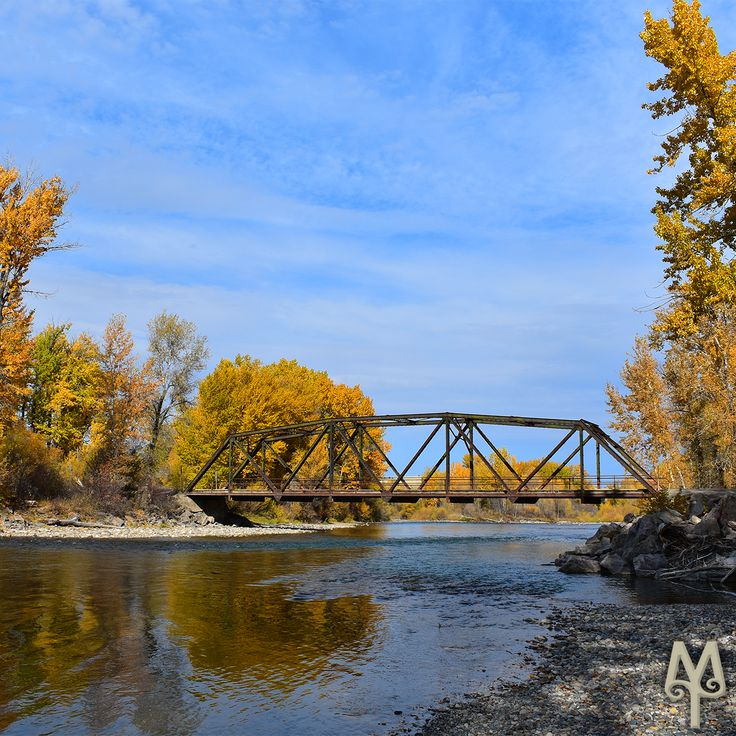 Fall On The Gallatin River near Bozeman, Montana...Plan your next fly fishing adventure with a Free Gallatin River Photo Map from Montana Treasures. This photo is menu item 'G46.'