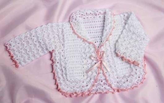crochê rosa e branco