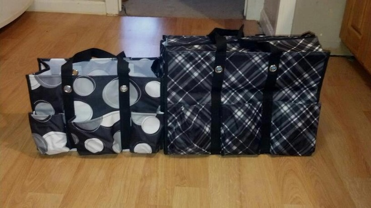 size comparison of Super Organizing Tote and the Organizing Utility Tote