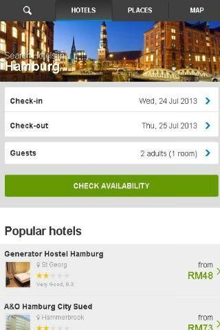 Want to go Hamburg, Germany? Install this Hamburg Germany Hotel Booking app now. It's FREE application. This Hamburg Germany Hotel Booking app is not only allow you to book Mauritius, whereas it allow you to book all the hotel in the world. Just simply select the country and date that you want, and click search.<p>Pack your bags and get ready for your vacation or business trips! We've got ROOMS FOR SALE UP TO 80% DISCOUNTS for over 300,000 properties in 230 countries for you to choose from…