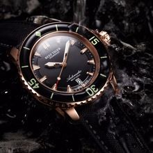 Reef Tiger brand Super Bright Automatic Men s Watches reloj hombre Black Steel Strap Swiss Nylon