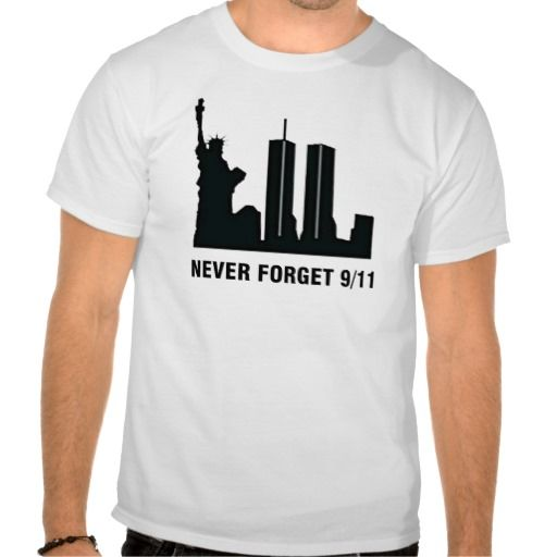 NEVER FORGET 9 SEPTEMBER 2001 T SHIRT. get it on : http://www.zazzle.com/never_forget_9_september_2001_t_shirt-235137305448808627?view=113483422920275979&rf=238054403704815742