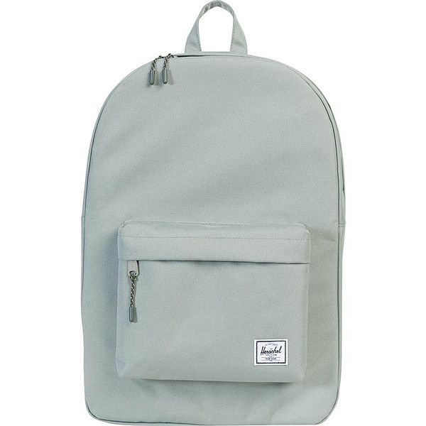 Herschel Classic Backpack - Shadow - School Backpacks ($45) ❤ liked on Polyvore featuring bags, backpacks, grey, daypack bag, gray bag, day pack backpack, herschel supply co backpack and gray backpack