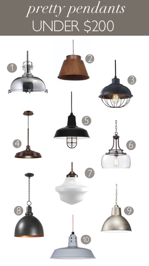 Pendant lighting can be expensive. But, there are lots of affordable options available. Here are 10 pretty pendants all under $200.
