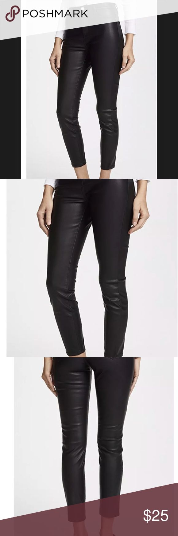 """Blank Denim Faux Leather pants - size 25 Never worn Blank Denim faux leather black pants. Size 25, fit true to size. Bought from ShopBop in 2017. Tags removed. Perfect condition. 26.75"""" inseam. 9.75"""" leg opening. 10"""" rise. Blank Denim Pants Skinny"""