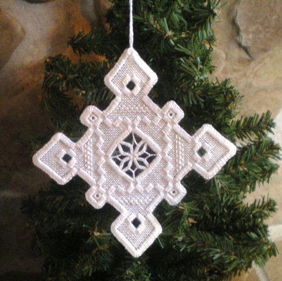 Vacaciones de Hardanger ornamento Copo de nieve por MnMom23