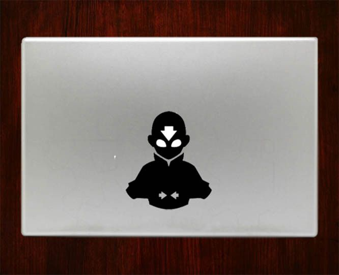Avatar aang airbender decal sticker vinyl for macbook pro air inch inch inch decals laptop cover