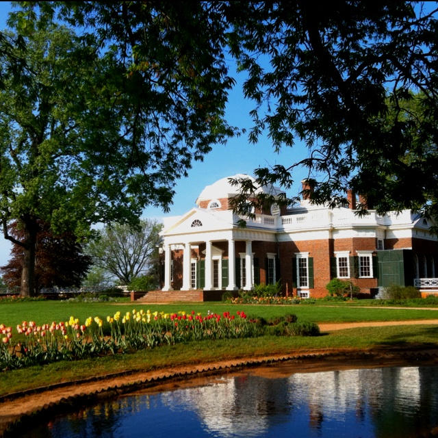 A beautiful view of Monticello in Charlottesville.