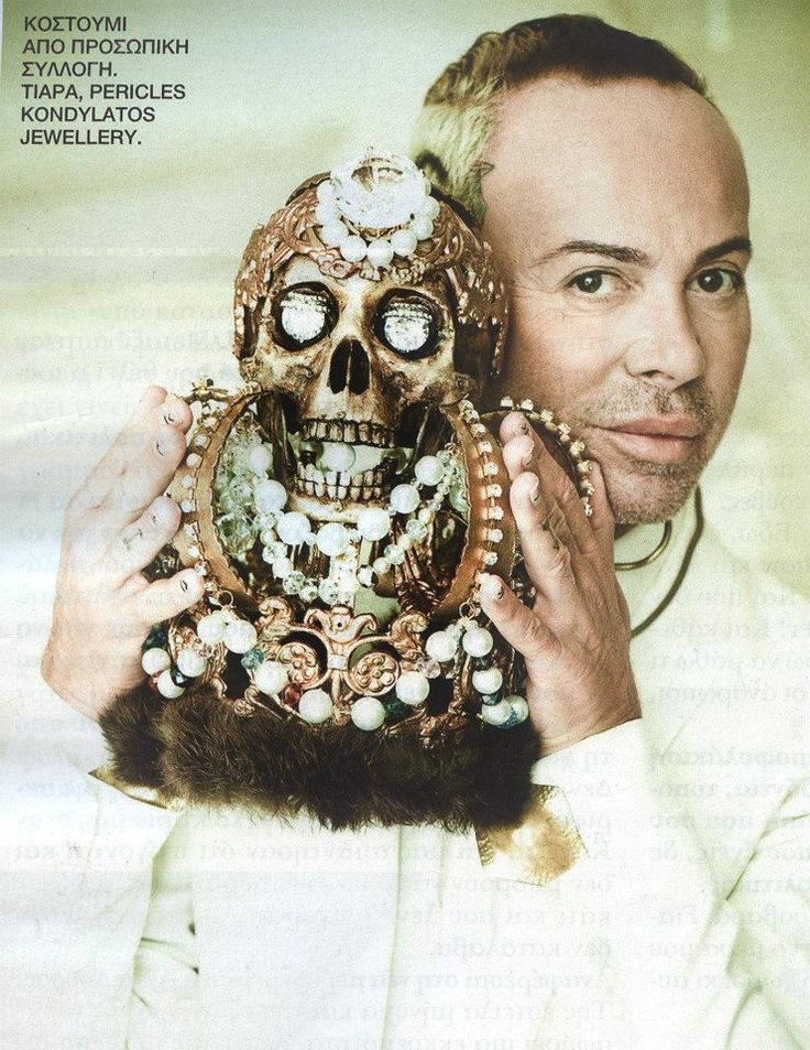 "Lakis Gavalas wears the ""Video Mortem"" Crown by Pericles Kondylatos The ""Video Mortem"" Crown featured @ «Hello» Mag. Oct 2014  « Hello » Magazine # 103 / October 2014  Magazine Pictures by Ioanna Jejoumi Anna Ziazia Still life pictures by Panagiotis Karamitsos / ""WE THE PEOPLE"""