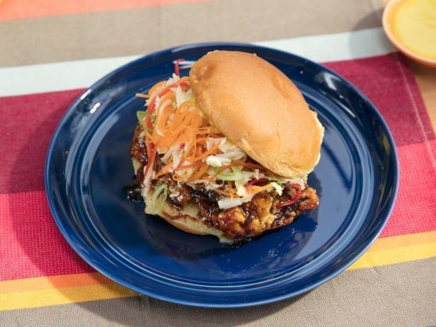 Get General Tso's Crispy Chicken Sandwich Recipe from Food Network