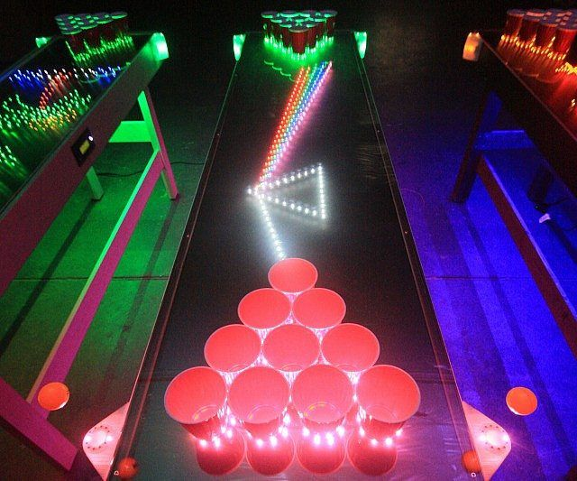 Interactive LED Beer Pong Table - https://tiwib.co/interactive-led-beer-pong-table/ #AlcoholicGear #gifts #giftideas #2017giftideas #xmas