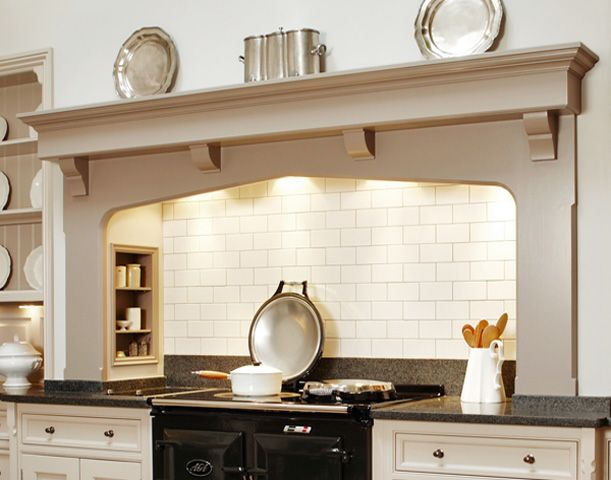 Black aga with subway tiles and alcove - similar to what we are getting! Description from pinterest.com. I searched for this on bing.com/images