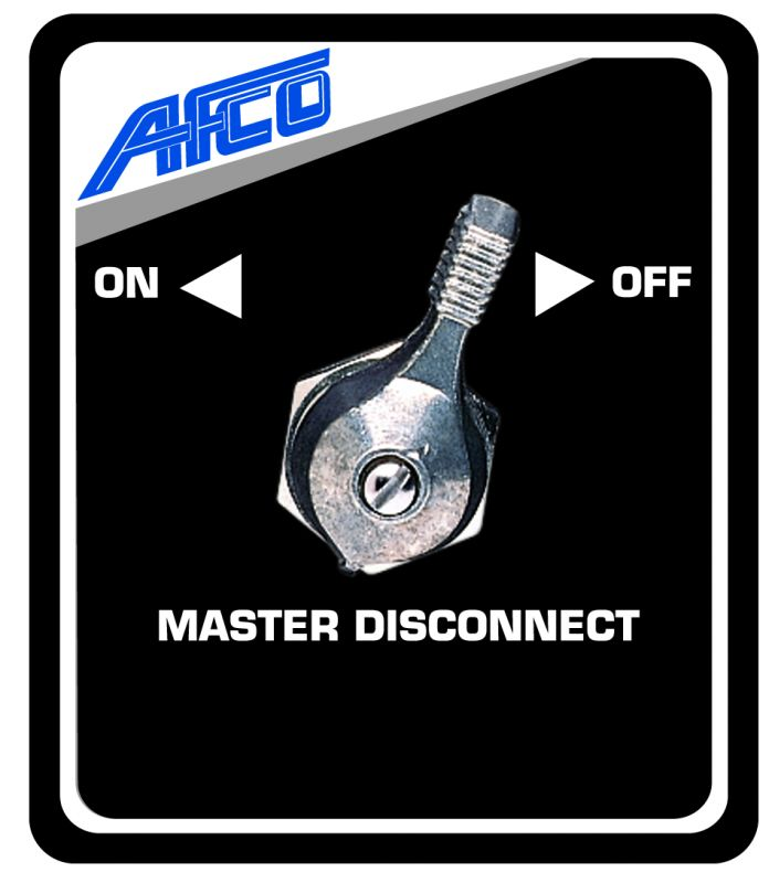 Master Disconnect Switch Panel Black AFCO   AfcoDynaPro.com