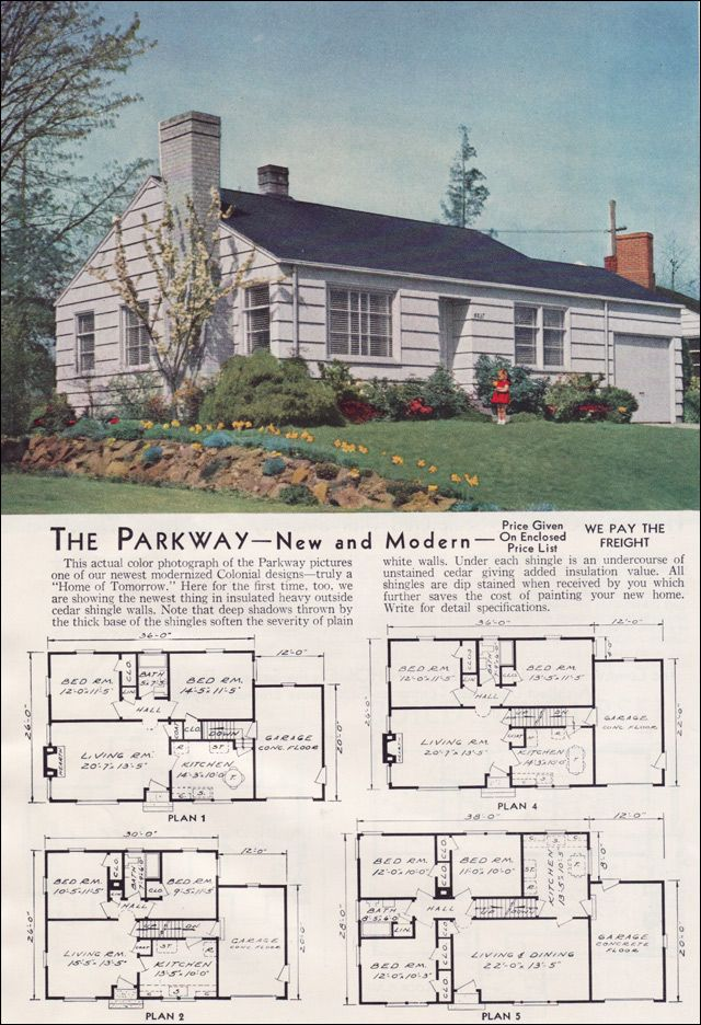 Minimal Traditional House Plan   1951 Parkway   Aladdin Readi Cut Homes