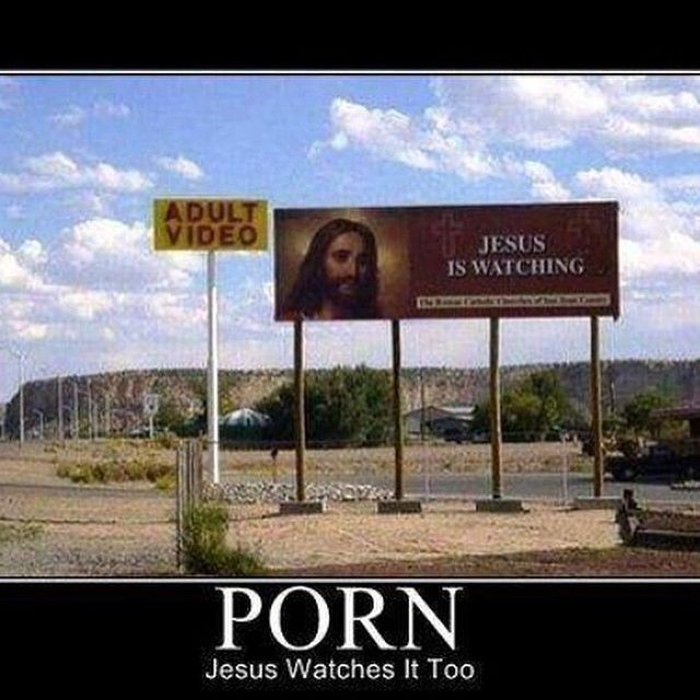 Atheism, Religion, God is Imaginary, Jesus, Humor. Porn. Jesus Watches It Too.