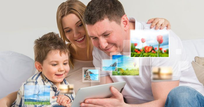 Organize large photo collections, create shared albums and ensure your pictures stay with you no matter what device they come from.