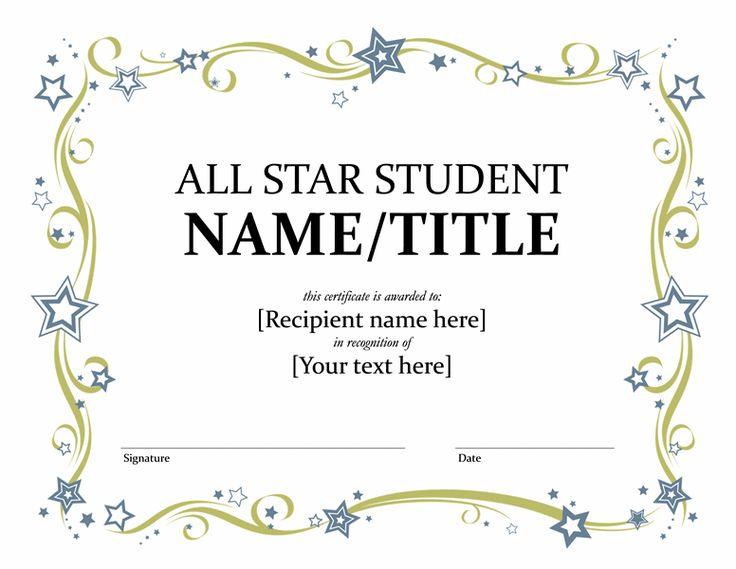 15 best Editable School Certificates images on Pinterest - free printable editable certificates