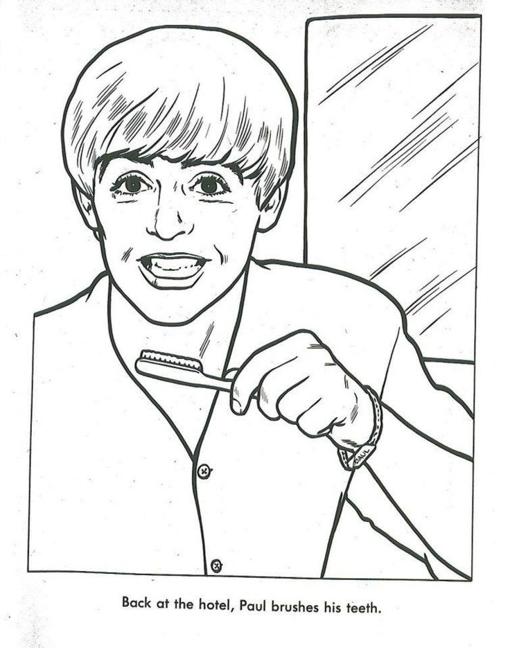 35 best Beatles Coloring Book images on Pinterest The beatles - best of coloring page of a hair brush