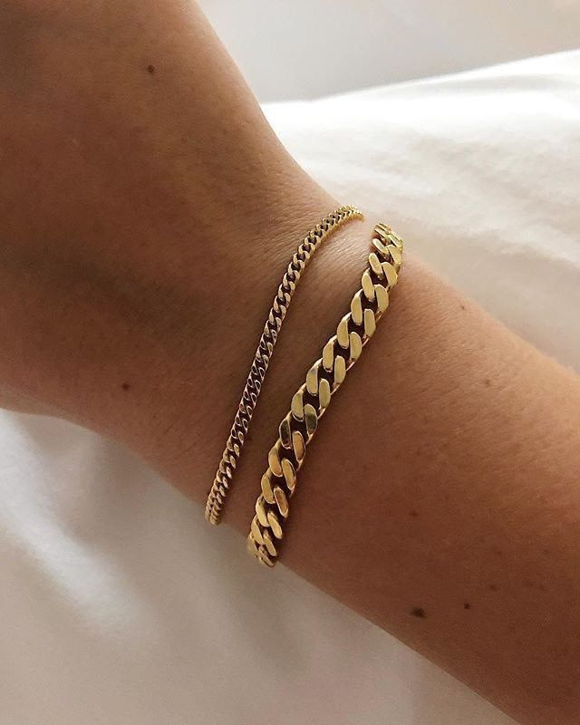 Pin By Ana Rose On J E W E L E R Y Gold Bracelets Stacked Cute