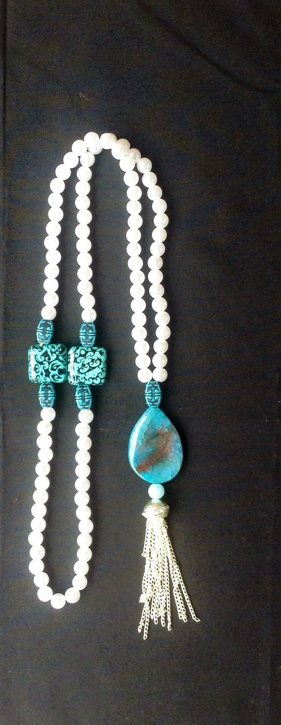 Islamic Prayer Beads Silver Turquoise by ParadiseCreationShop, $15.00