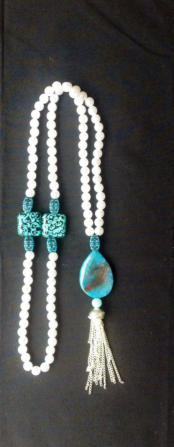 Islamic Prayer Beads Silver Turquoise by ParadiseCreationShop, $15.00