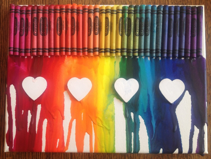 how to make crayon art heart