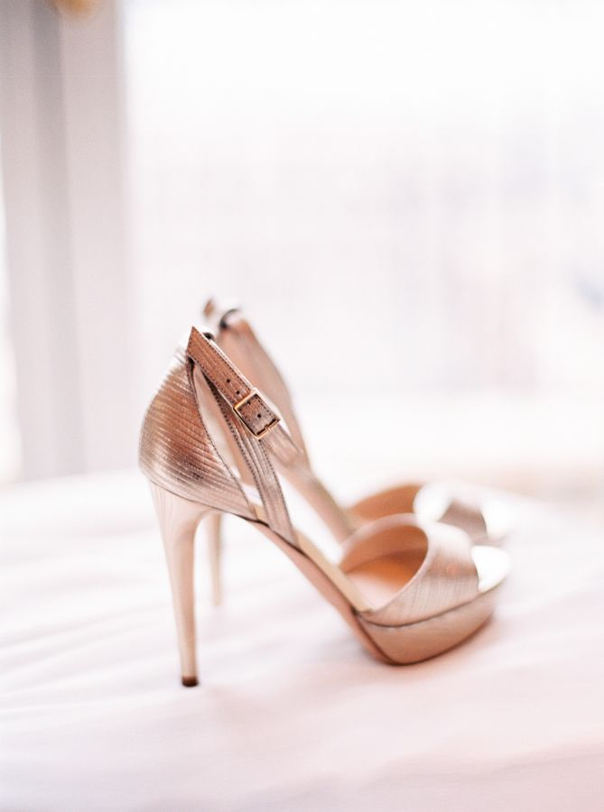 Chic gold platform heels: http://www.stylemepretty.com/destination-weddings/france-weddings/2016/04/07/your-jaw-will-drop-when-you-see-this-flower-filled-paris-wedding/ | Photography: Le Secret D'Audrey - http://lesecretdaudrey.com/