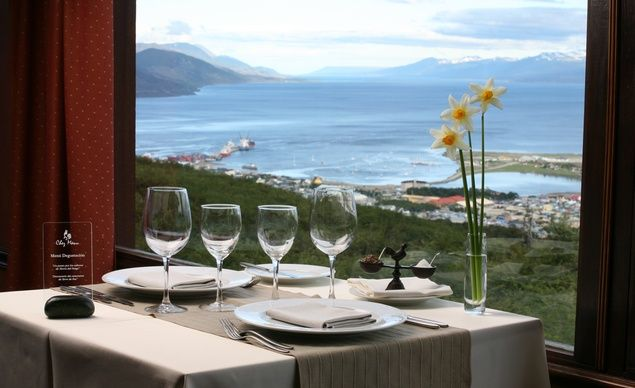 Chez Manu, a French restaurant near Ushuaia, Argentina—the southern-most city in the world—pairs breathtaking views of Beagle Channel and a menu of local specialties with a French twist. (Think Fuegian rabbit in an aged mustard sauce.) (From: 12 Restaurants With Spectacular Views).