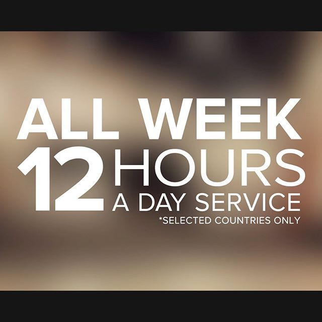 We are here for you 7 days a week, 12hours a day. Use it! #fullservice