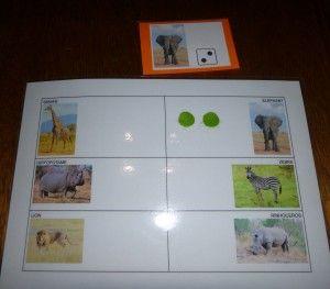 Jeu sur les animaux d'afrique
