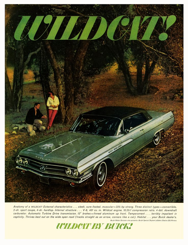 Vintage 1963 Magazine Ad For Buick Wildcat Sleek Sure Footed Muscular Strong