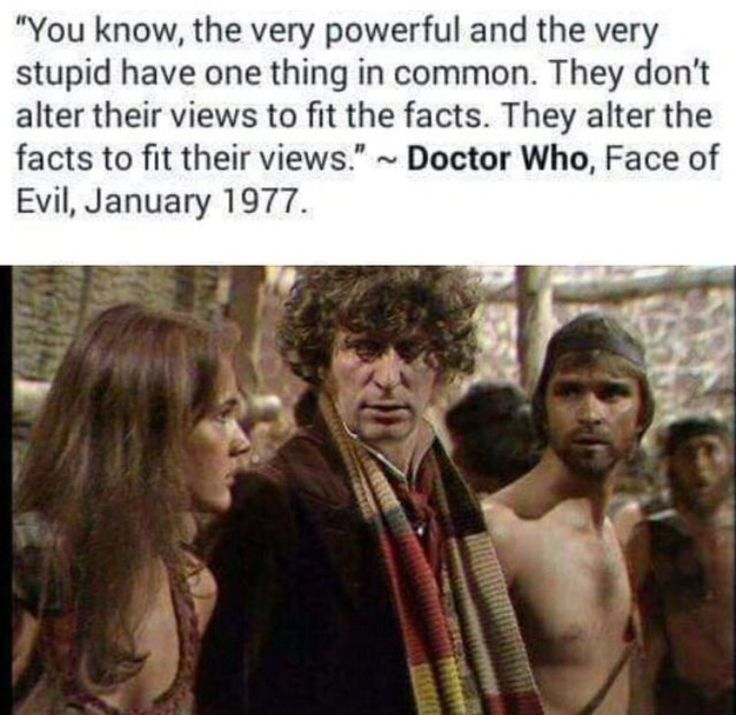 Ah the Doctor is a wise man.
