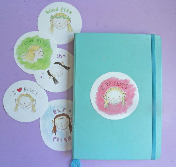 Wood Elves Stickers Set Cute Elves Lord of The Rings by LisyCorner