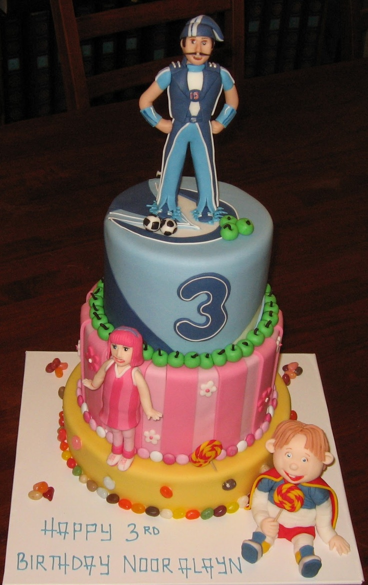 Let Them Eat Cake: Lazy Town 3 tier cake