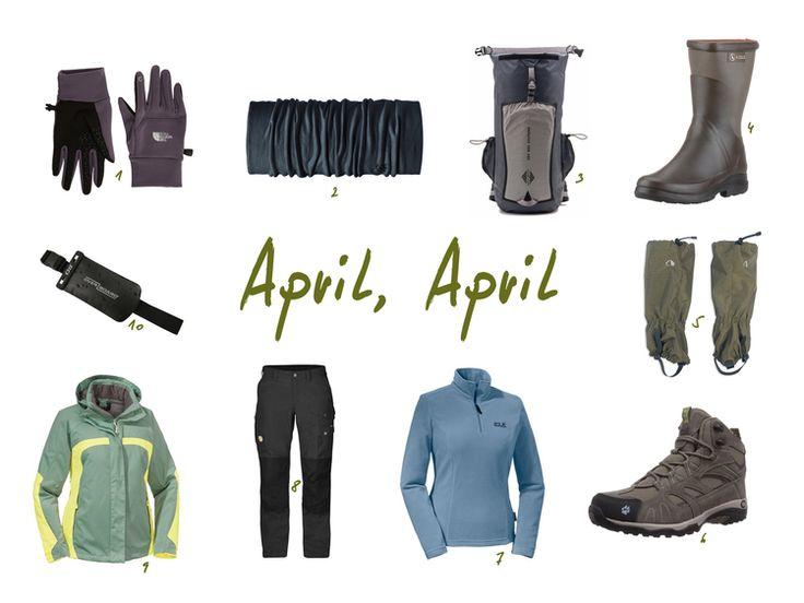 Unsere Inspiration für stürmisch-nasses Aprilwetter.