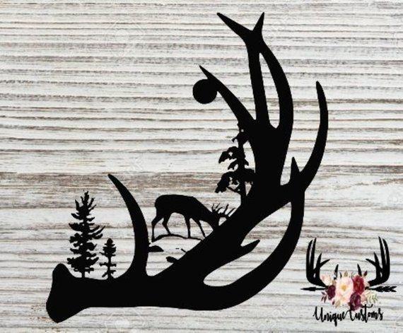 Deer Svg Wildlife Svg Deer Antler Deer Antler Svg