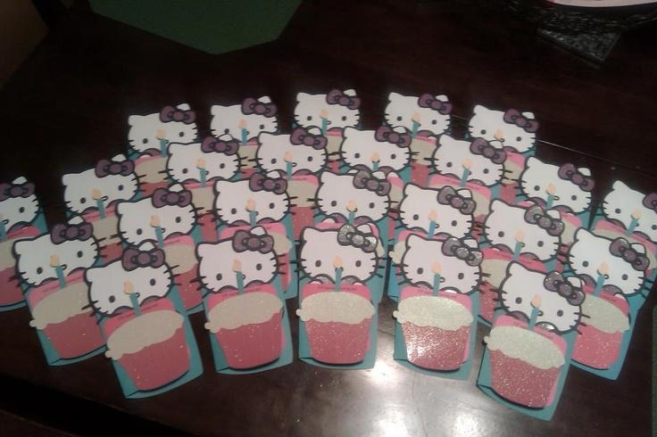 Hello Kitty Invites: Cricut Scrapbook, Kitty Parties, Kitty Invitations, Crafty Studios, Cards Invitations, Hello Kitty
