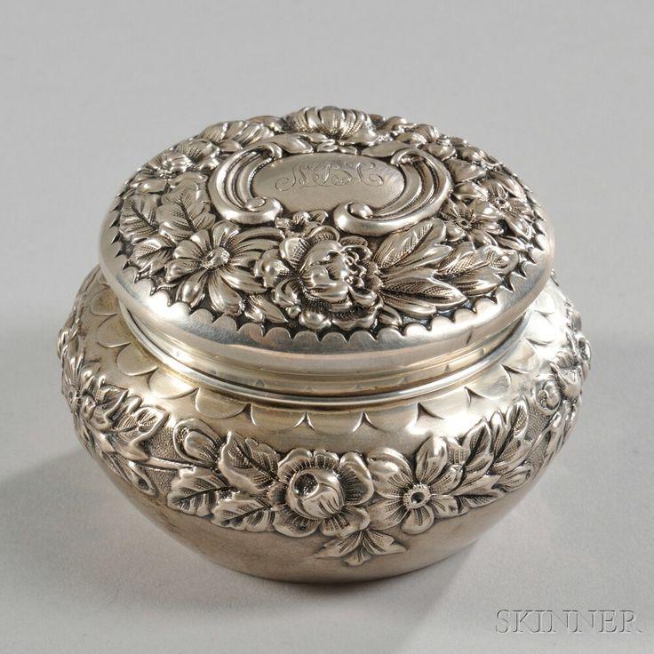 Gorham Sterling Silver round dresser box