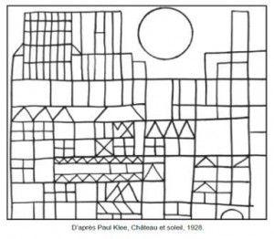 Paul Klee Château et soleil