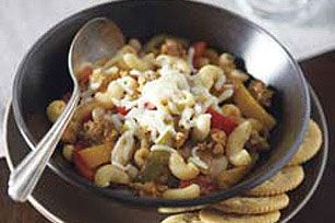 Easy Italian Stew recipe...This is a family favorite.  However, be aware the pasta is not good in the leftover portions,  so prepare accordingly.