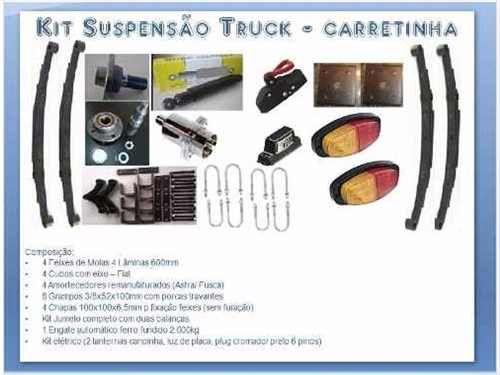 Suspensão Para Carretinha Reboque Trucada - R$ 1.240,00