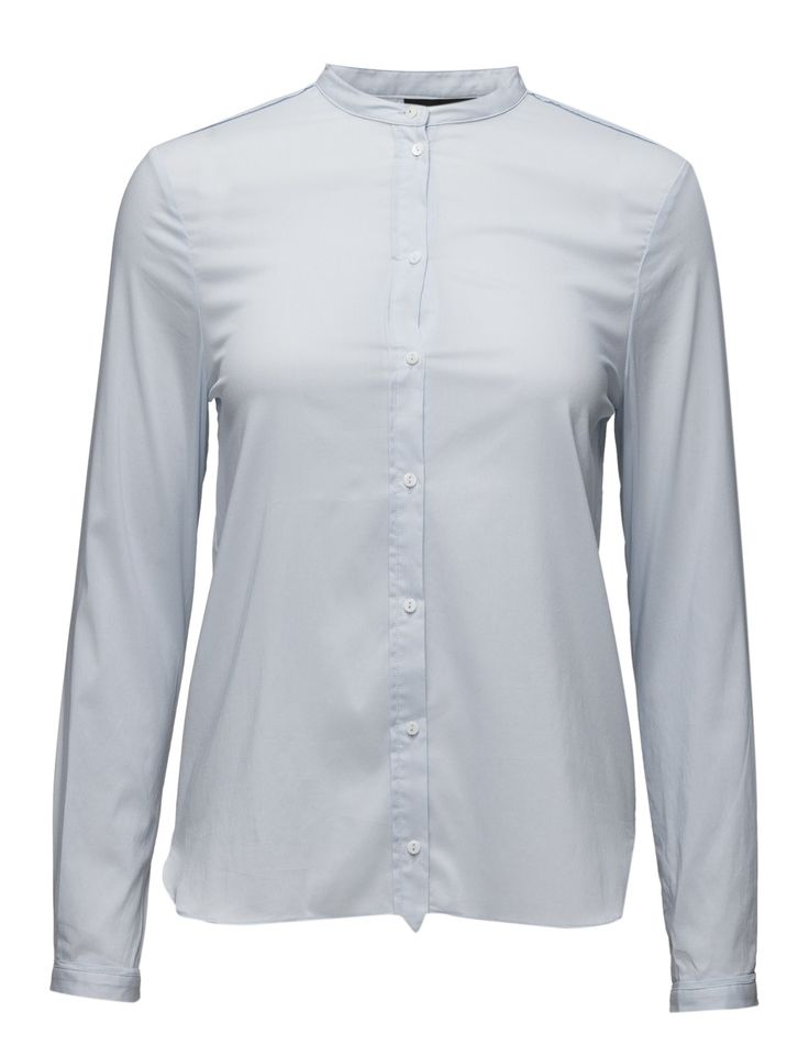 DAY - Day Deema-Lovely minimalistic cotton shirt made in a classic tailored style. The shirt features long sleeves, a china collar and a front button fastening. The DAY Deema is a great choice for your office-wear and can be styled with anything you'd like.  Front button placket Mandarin collar Stretch fabric Classic Simple