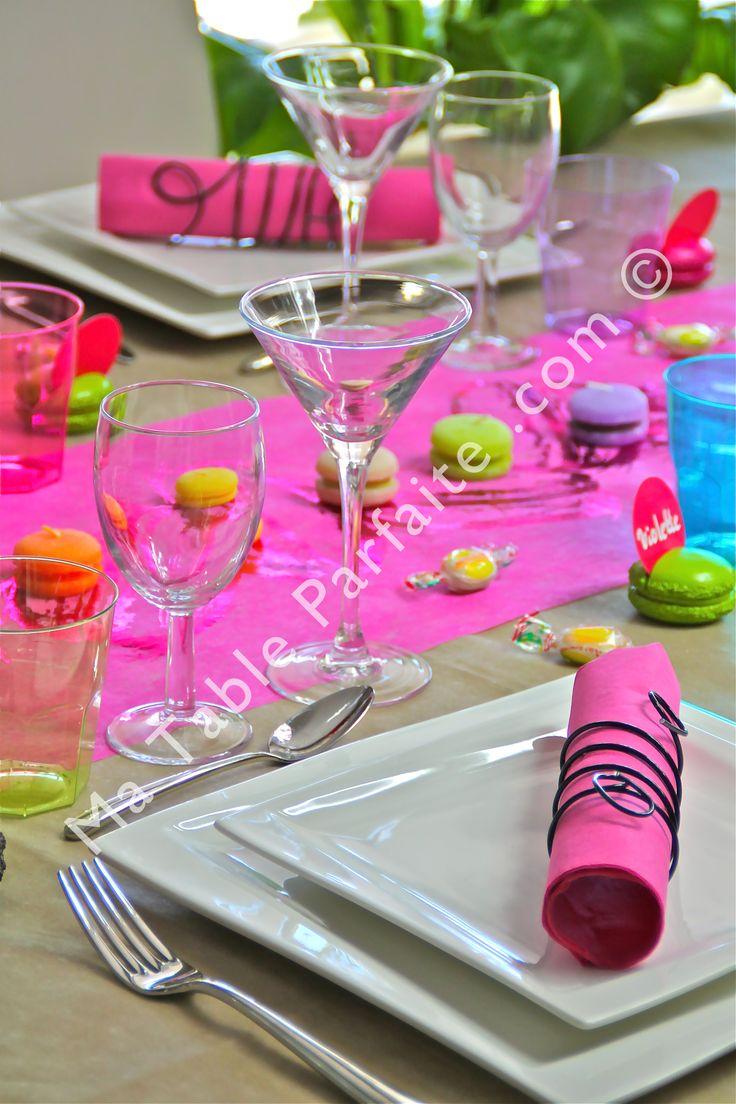 D coration de table pr te poser par gourmandise avec for Chemin de table lumineux