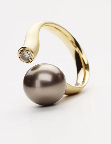 GELLNER - This Tahitian pearl and diamond ring will make a great statement!