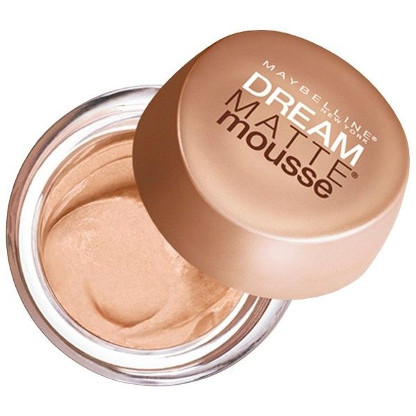 Maybelline Dream Matte Mousse Foundation ($7.59) ❤ liked on Polyvore featuring beauty products, makeup, face makeup, foundation, beauty, sensitive skin foundation, maybelline foundation, mousse foundation, maybelline and maybelline face makeup