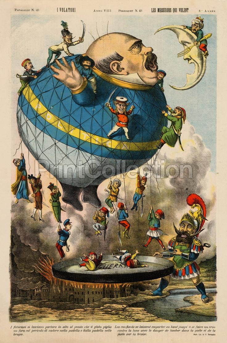 Italian Political Cartoon, 1880