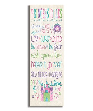 Another great find on #zulily! Rainbow Princess Rules Castle Wall Art by The Kids Room by Stupell #zulilyfinds
